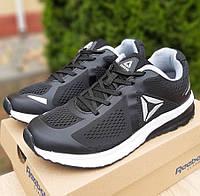 Мужские кроссовки Reebok Harmony Road 3 чёрные на белой. Живое фото. Реплика