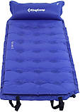 Самонадувний килимок KingCamp Base Camp XL(KM3559) (navy blue), фото 2
