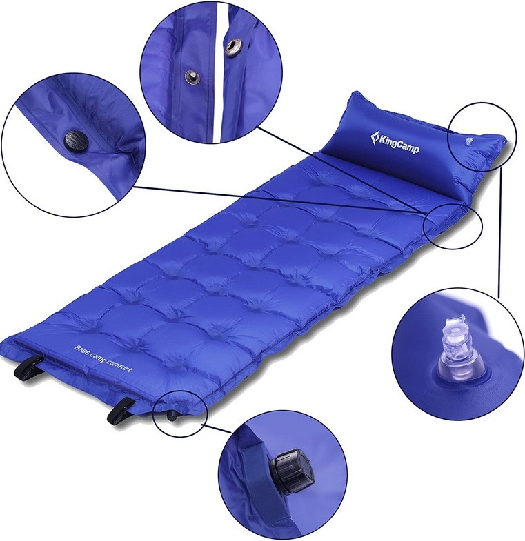 Самонадувний килимок KingCamp Base Camp XL(KM3559) (navy blue)
