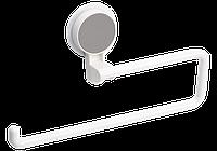 Держатель для бумажного полотенца клеющийся МВМ белый