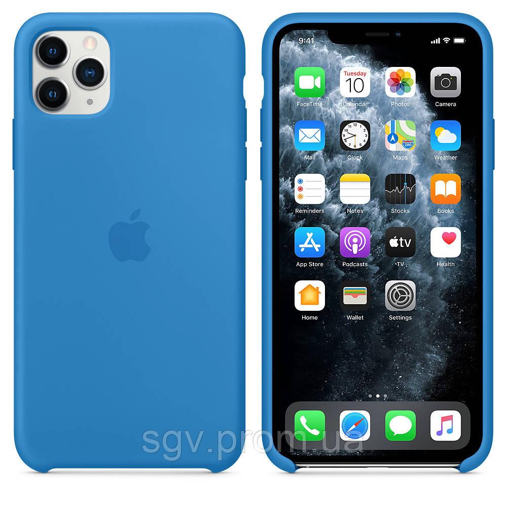 Силиконовый чехол для iPhone 11 Pro / 11 Pro Max, цвет «синяя волна»