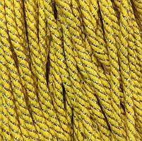 Шнур декоративний з наповнювачем п/е 8мм кол золото жовте (уп 100м) Ф