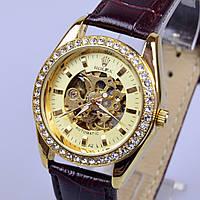 Женские наручные часы Ролекс механика скелетон