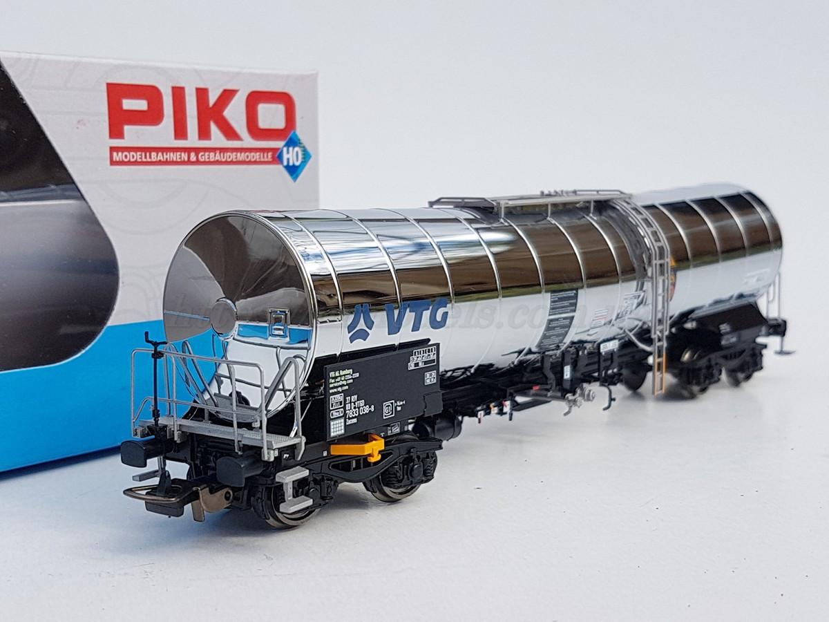 "Piko 54760 модель 4х осной хромированой цистерны "" KVG "", DB, масштаба 1:87,H0"