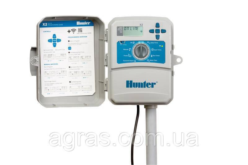 Контроллер автополива  Х2-401-Е Hunter с возможностью подключением модуля Wi-Fi
