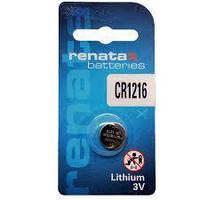 Батарейка дисковая Renata CR 1216 Lithium, 3V