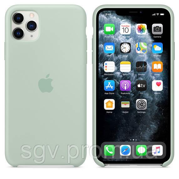 Силиконовый чехол для iPhone 11 Pro / 11 Pro Max, цвет «голубой берилл»