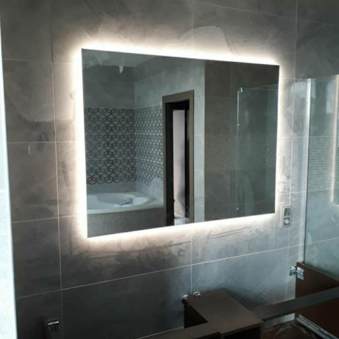 Дзеркало з Led підсвіткою 400 x 400 мм / Зеркало с Led подсветкой 400 x 400 мм