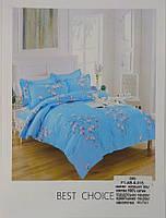 Комплект постельного белья полуторка, Сатин 3 предмета