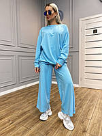 Костюм женский стильный широкие штаны 42-46 рр.
