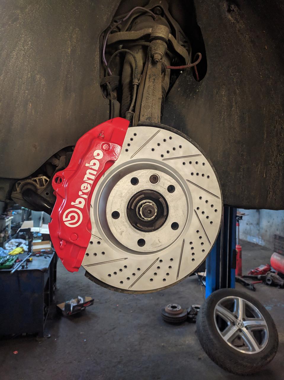 Диск тормозной передний R1 CONCEPTS CARBON GEOMET VW TOUAREG / AUDI Q7 350 mm