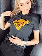 Женская классическая футболка  «Simba» из коттона (42-46), фото 1