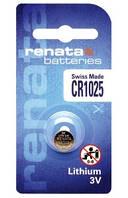 Батарейка дисковая Renata CR 1025 Lithium, 3V