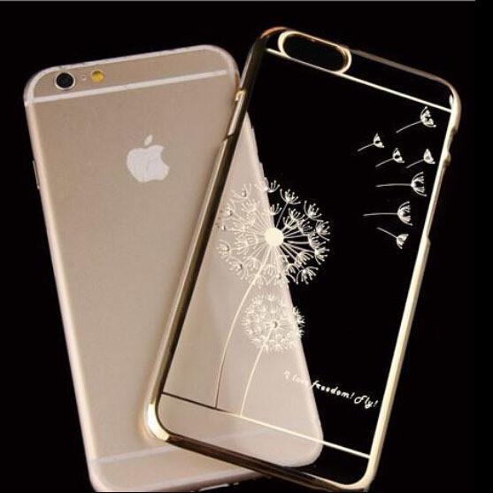 Чехол SWAROVSKI Dandelion Clear Silver для Iphone 6/6s