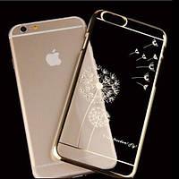 Чехол SWAROVSKI Dandelion Clear Gold для Iphone 6/6s, фото 1