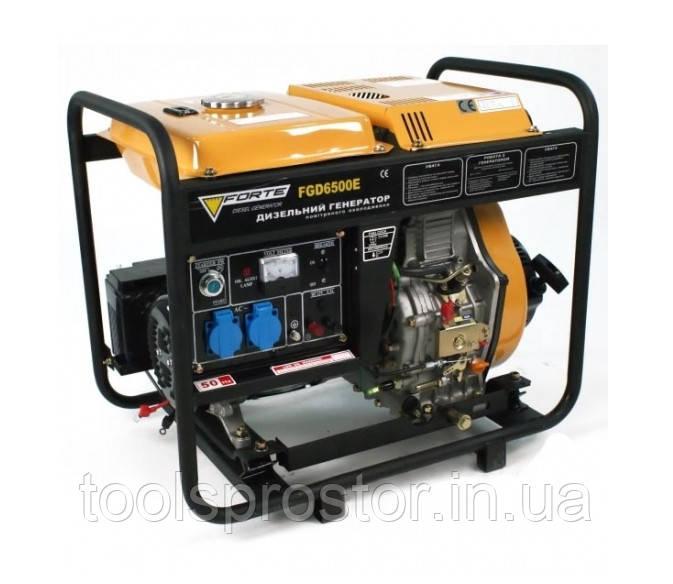 Электрогенератор Forte FGD6500E : 2.5 кВт / 3.4 л.с | Четырехтактный