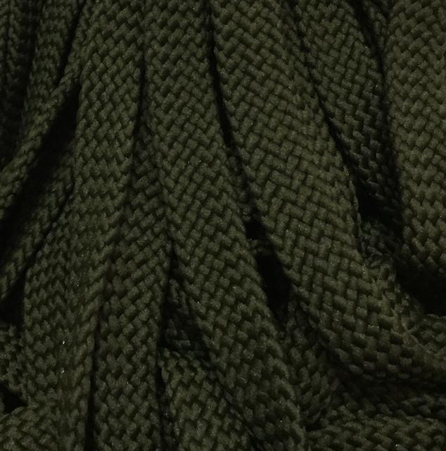 Шнур для одежды без наполнителя 16мм цв оливковый (уп 100м) Ф