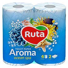 "Папір туалетний ""Ruta"" Aroma Ocean 4рул 2ш голубий ароматизований"