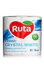 """Папір туалетний """"Ruta"""" Classic 4рул 2ш білий"""