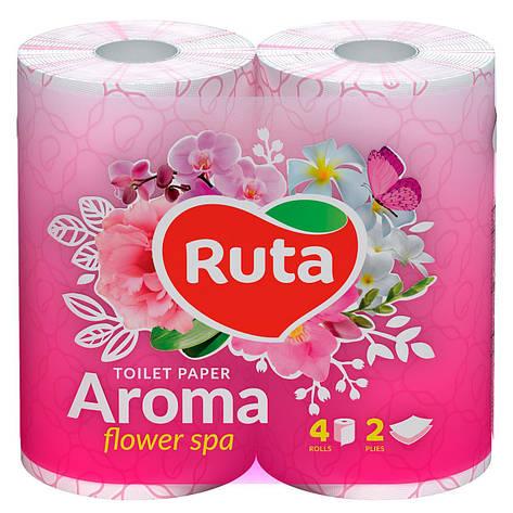 """Папір туалетний """"Ruta"""" Aroma Flower 4рул 2ш рожевий ароматизований, фото 2"""