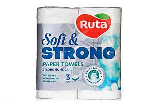 """Рушники паперові """"Ruta"""" Soft Strong 2рул 3ш білі"""