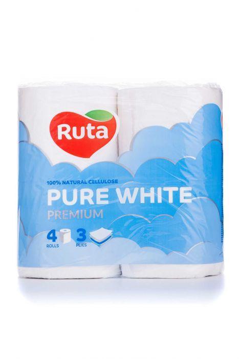 """Папір туалетний """"Ruta"""" Pure White 4рул 3ш білий"""