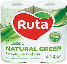 "Папір туалетний ""Ruta"" Classic 4рул 2ш зелений"