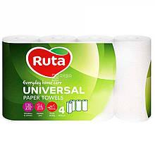 """Рушники паперові """"Ruta"""" Universal 4рул 2ш білі"""