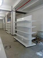 Стеллаж торговый металлический двухсторонний 1200х1250х400, 3 полки