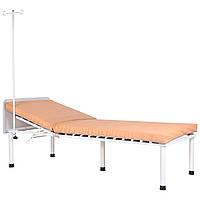 Кровать медицинская Пульс со штативом белый беж