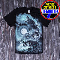 Стильная подростковая футболка для мальчика 128-146см, светиться в темноте