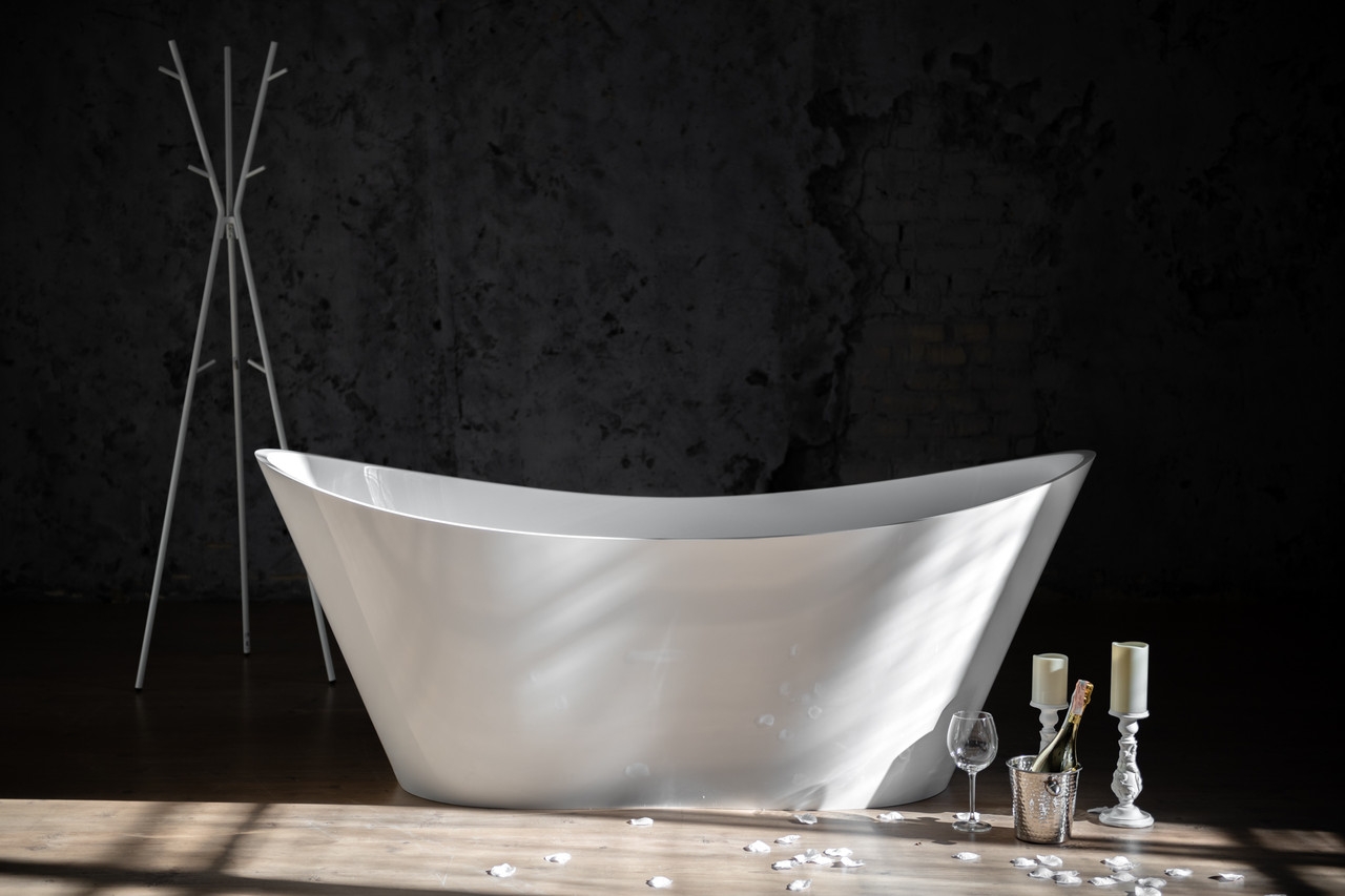 Ванна MIRAGGIO FLORIDA глянцевая с литого мрамора