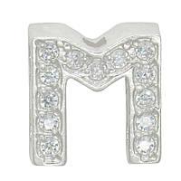 """Серебряная буква на цепочку """"M"""""""