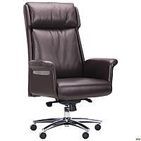 Кресло офисное кожаное AMF Truman Brown коричневое, фото 1