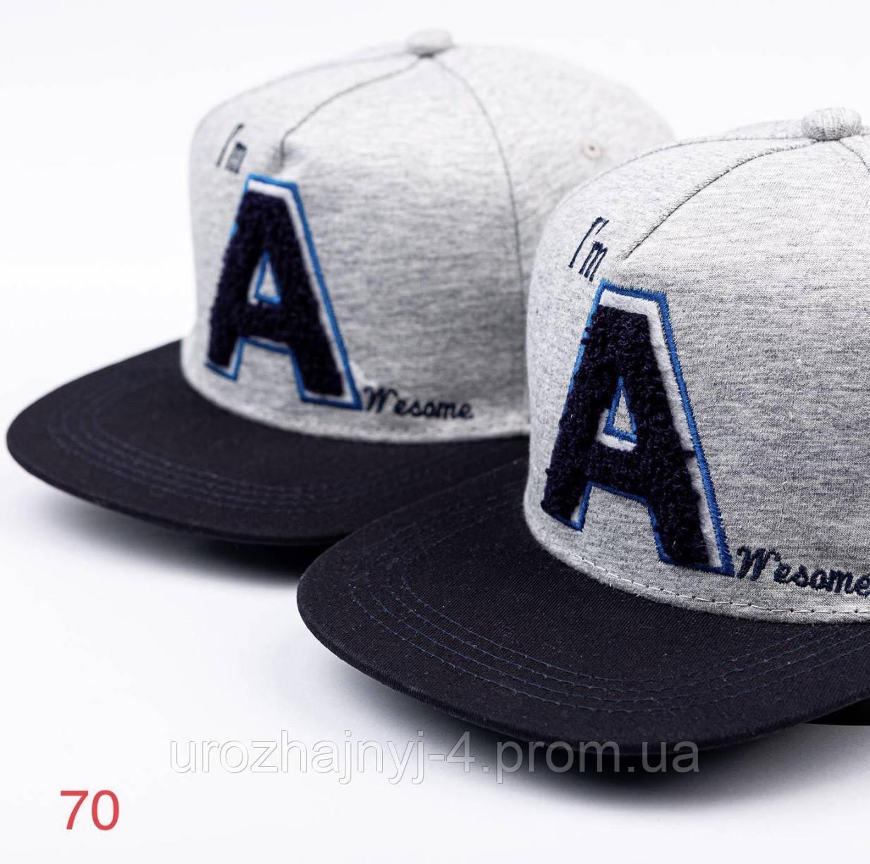 Трикотажная кепка/бейсболка/реперка размер 52-54 поштучно