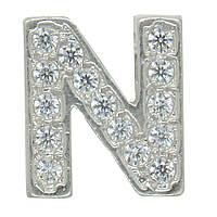 """Серебряная буква на цепочку """"N"""""""