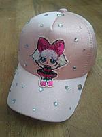 """Бейсболка кепка для Девочек Украшенная Камнями """"LOL"""" ОГ 52-54 (4-7 лет)розовая, фото 1"""