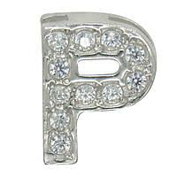 """Серебряная буква на цепочку """"P"""""""