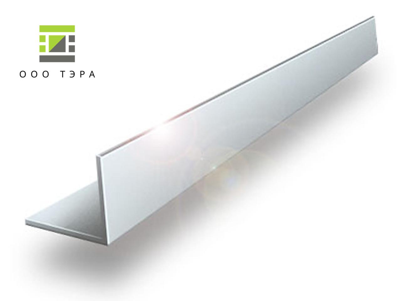Уголок алюминиевый 20х10х1 мм 6060 Т6 профиль разносторонний АД31Т