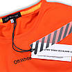 Футболка мужская оранжевая с принтом OFF-WHITE №13 Ф-10 ORN L(Р) 19-651-020-001, фото 3