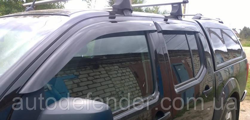 Дефлекторы окон (ветровики) Nissan Navara D40 2005-2015, Cobra Tuning - VL, N10505