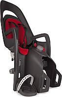 Велокресло детское HAMAX Caress заднее на багажник серое/красное
