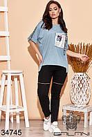 Стильный женский костюм с брюками-3 цвета NEW! 50-52 54-56 58-60, фото 1