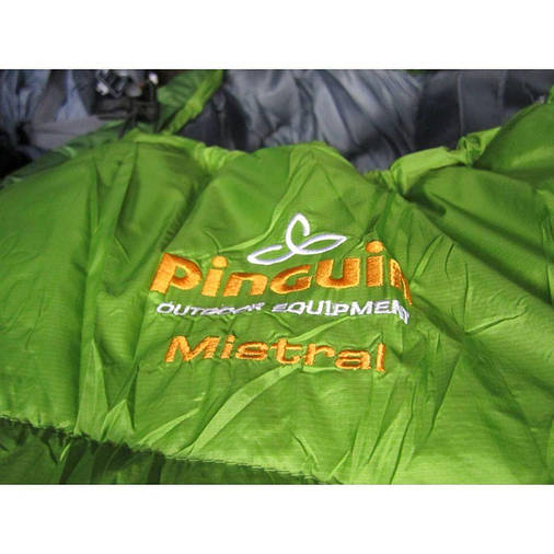 Спальний мішок Pinguin Mistral 195 Green Right Zip, фото 2