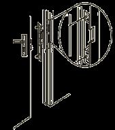 Электромеханическая замок-защелка  ES-250NC