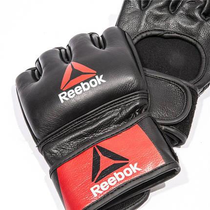 Перчатки MMA Reebok RSCB-10320RDBK кожаные, фото 2