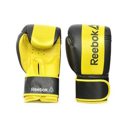 Боксерские перчатки Reebok Retail RSCB-11112YL 12oz yellow, фото 2