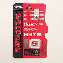 Карта памяти MicroSDHC Remax 16 GB 10 Class