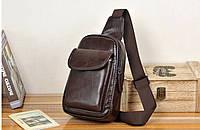 Мужская кожаная сумка. Модель 61244, фото 9