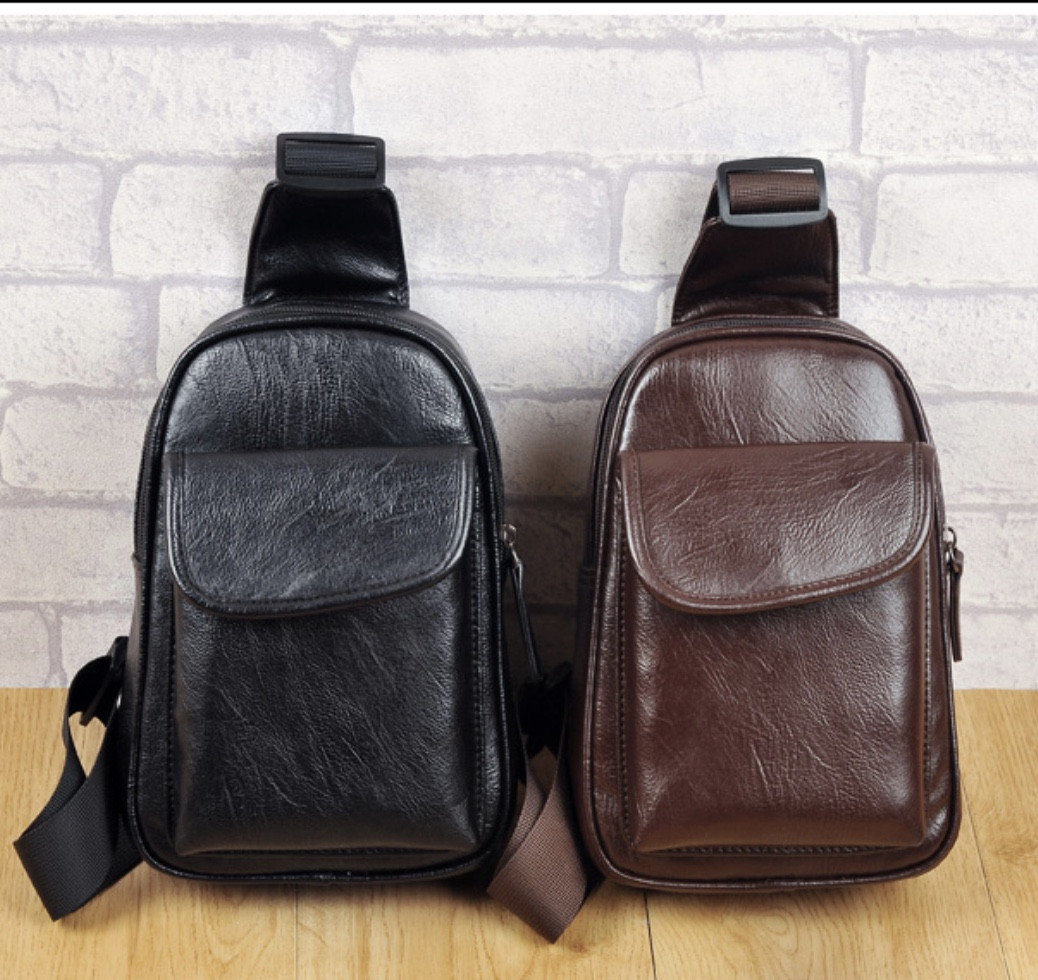 Мужская кожаная сумка. Модель 61244